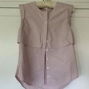 Stripe sleeveless blouse